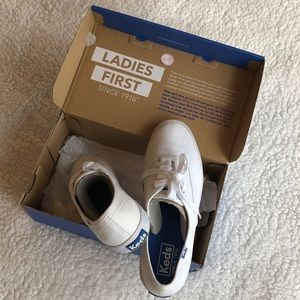 Keds white canvas